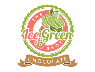 The Ice Green Shop logo design