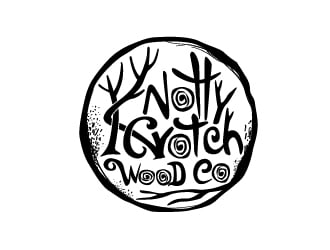 Knotty Crotch Wood Co logo design