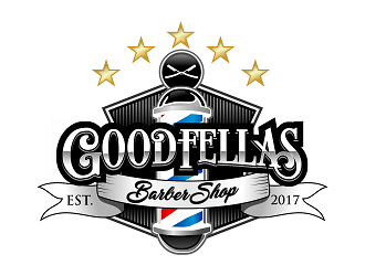 the goodfellas barber shop logo design