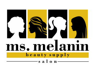 Ms. Melanin    Beauty Supply . Salon logo design