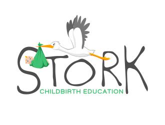 Stork logo design
