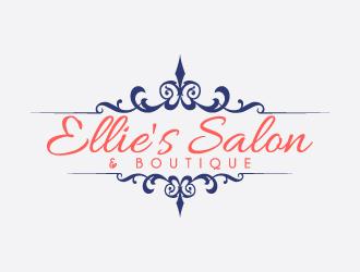 Ellie's     salon & Boutique logo design
