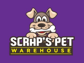 Scrap's Pet Warehouse logo design