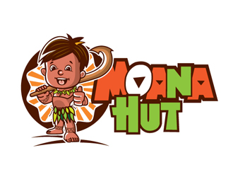 Moana Hut logo design