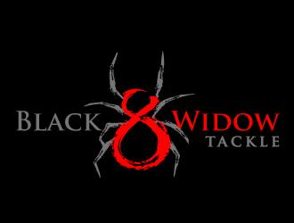 Black Widow Tackle logo design