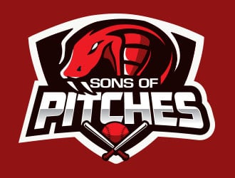 Sons oF PitcheS logo design