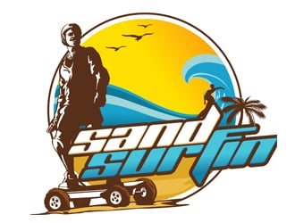 Sand-Surfin logo design