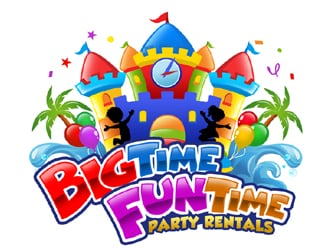 Big Time Fun Time Party Rentals logo design