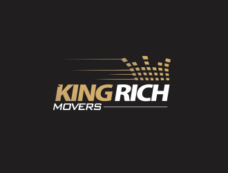 KING RICH MOVERS logo design
