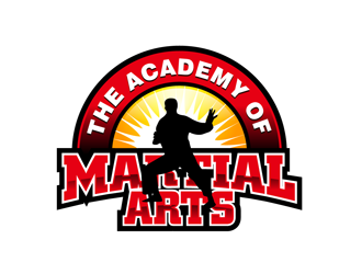 The Academy of Martial Arts logo design