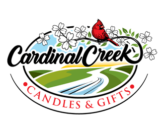 Cardinal Creek Candles & Gifts logo design