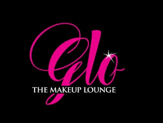 glow the makeup lounge logo design
