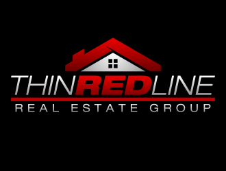 Thin Red Line Real Estate Group logo design