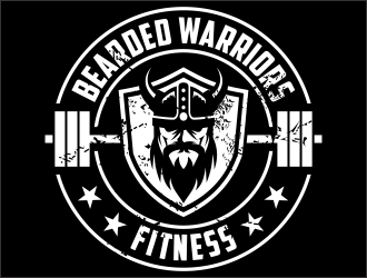 Bearded Warriors Fitness logo design