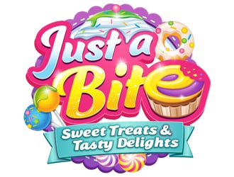 Just a bite (sweet treats and tasty delights) logo design