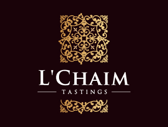 L'Chaim Tastings logo design