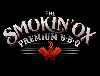 The Smokin' Ox Premium BBQ logo design