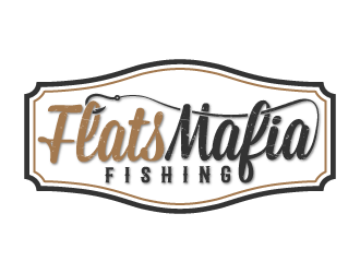 FlatsMafia Fishing logo design