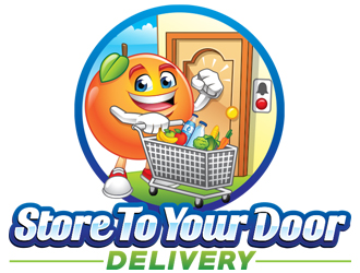 Store to your door delivery logo design