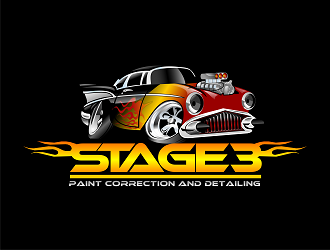 Stage 3 Paint Correction And Detailing logo design