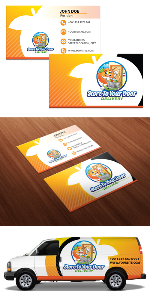 Store to your door delivery logo design