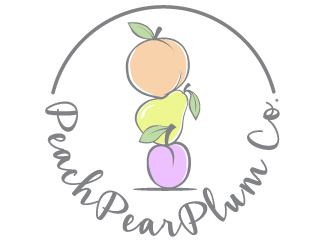 Peach Pear Plum Co logo design