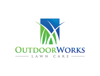 Outdoor Works Lawn Care logo design