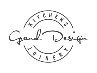 Grand design kitchens and joinery logo design