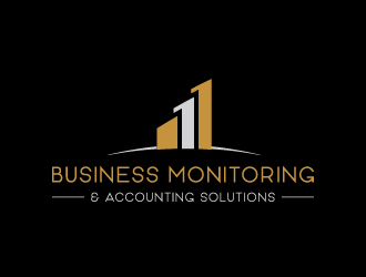 BUSINESS MONITORING & ACCOUNTING SOLUTIONS logo design