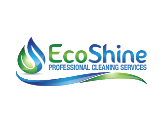 Eco Shine Professional Cleaning Services. logo design