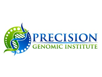 precision genomic institute logo design
