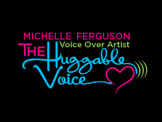 Michelle Ferguson Voice Over Artist - The Huggable Voice logo design