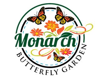 Monarch Butterfly Garden Logo Design Concepts #25