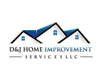 Awesome D U0026 J Home Improvement Services LLC Logo Design Concepts #35 Part 23