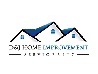D & J Home Improvement Services LLC logo design