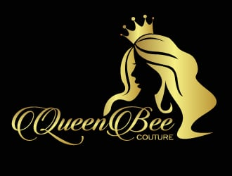 QUEEN BEE COUTURE logo design - 48HoursLogo.com