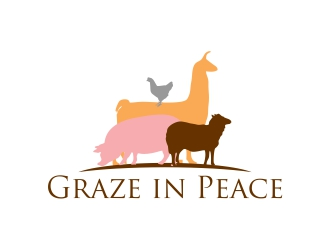 Graze in Peace logo design