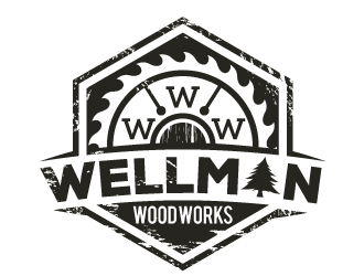 Wellman Wood Works logo design