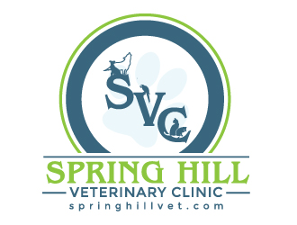 Spring Hill Veterinary Clinic logo design