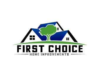 First Choice Home Improvements Logo Design Concepts #32