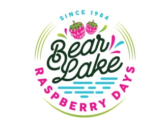 Bear Lake Raspberry Days logo design