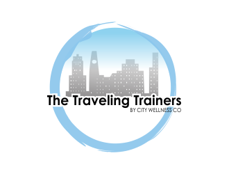 The Traveling Trainers - by City Wellness Co logo design