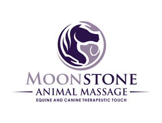 Moonstone Animal Massage logo design