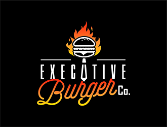 Executive Burger Co. logo design