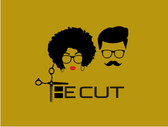 The cut logo design