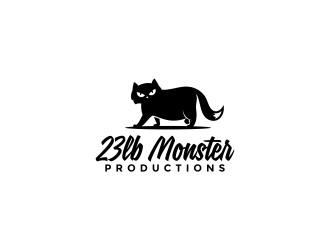 23 Lb Monster Productions logo design