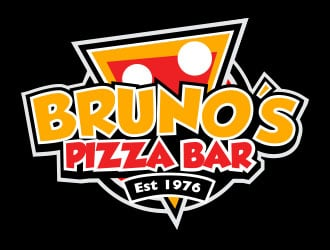 Brunos Pizza Bar logo design