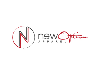 NewOption Apparel logo design