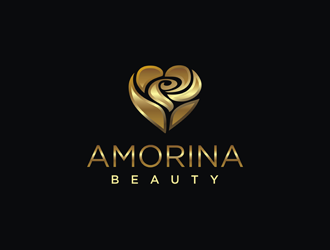 AMORINA BEAUTY logo design