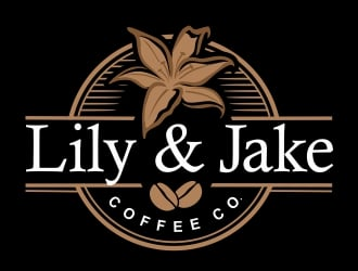 Lily & Jake Coffee Co. logo design